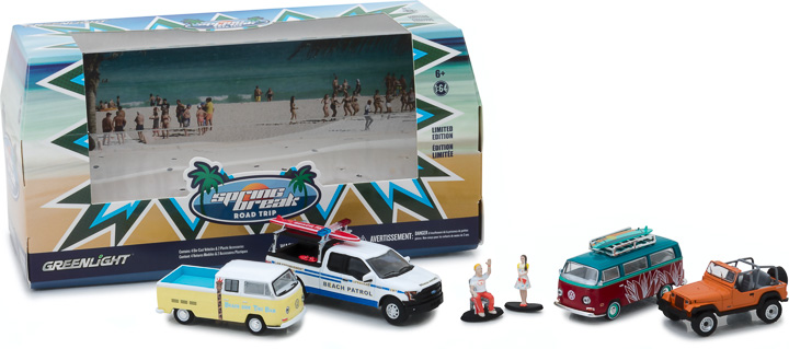 Greenlight 1/64 Multi-Car Dioramas - Spring Break Road Trip