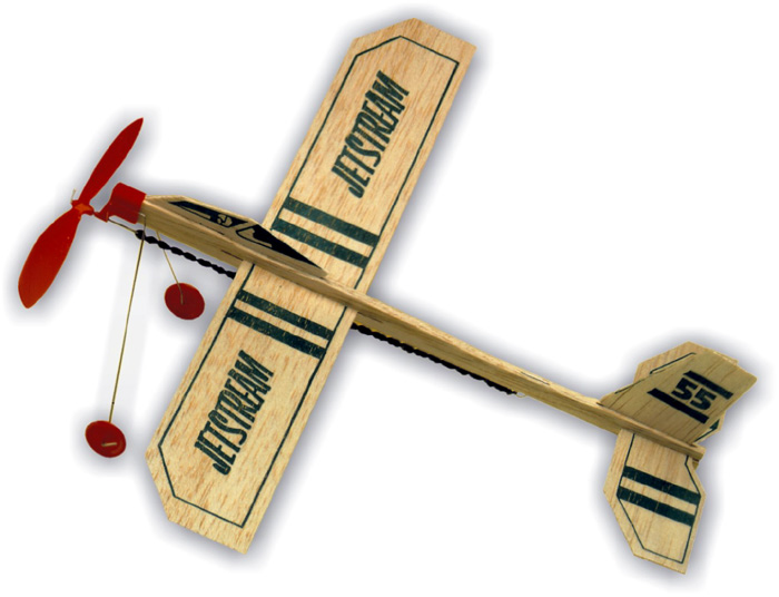 Guillow Rise Off Ground Jetstream Balsa Airplane Glider (18)
