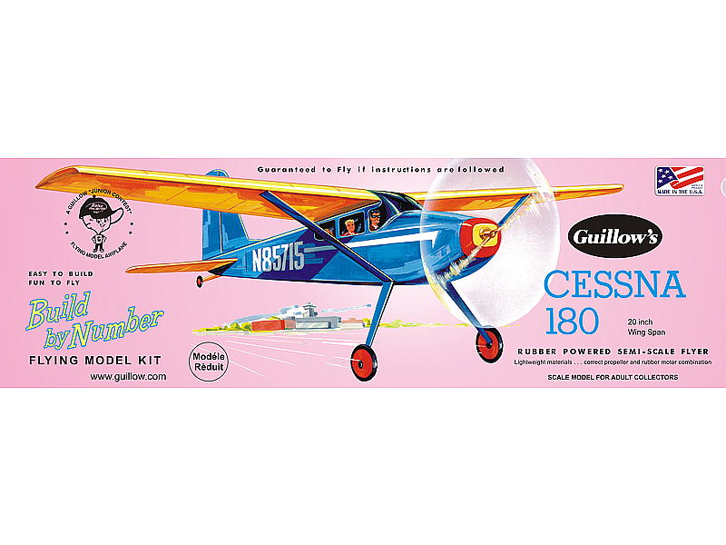 Guillow Cessna 180 Rubber Powered Semi-Scale Flyer (1)
