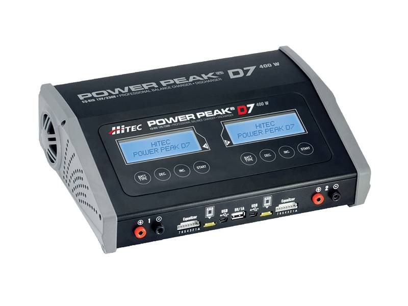 Hitec Power Peak D7 AC/DC Battery Charging Station