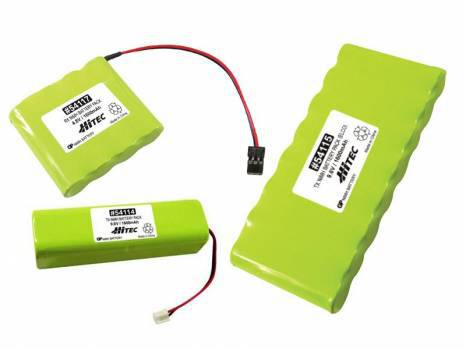 Hitec 1600mAh 9.6v NiMH Square Pack Elco for Flash, Prism, Laser