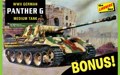 Lindberg Panther G w/ 1 of 2 bonus kits 1/72 Model Kit (Level 2)