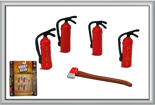 Hobby Gear Fire Extinguishers (4) and Axe (1)