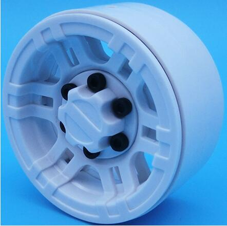 "Wheels 1.9"" Beadlock, Plastic, White (4)"