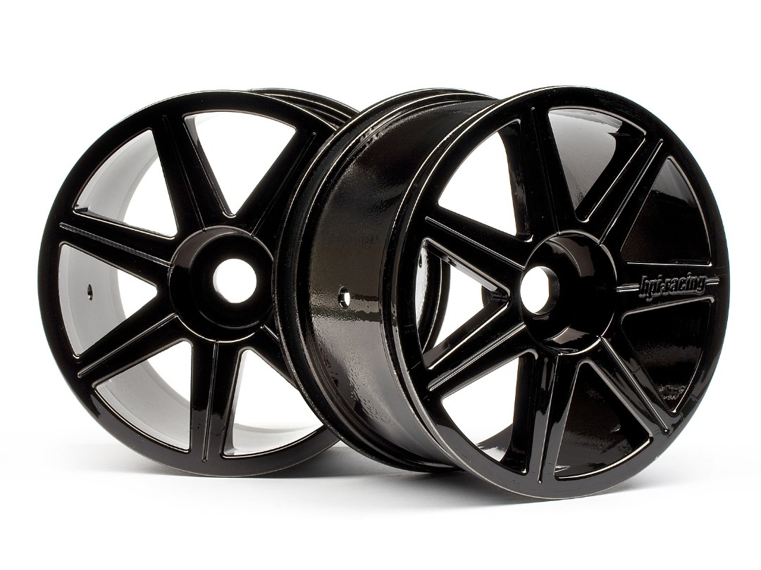 HPI 7 Spoke Black Chrome Trophy Truggy Wheel
