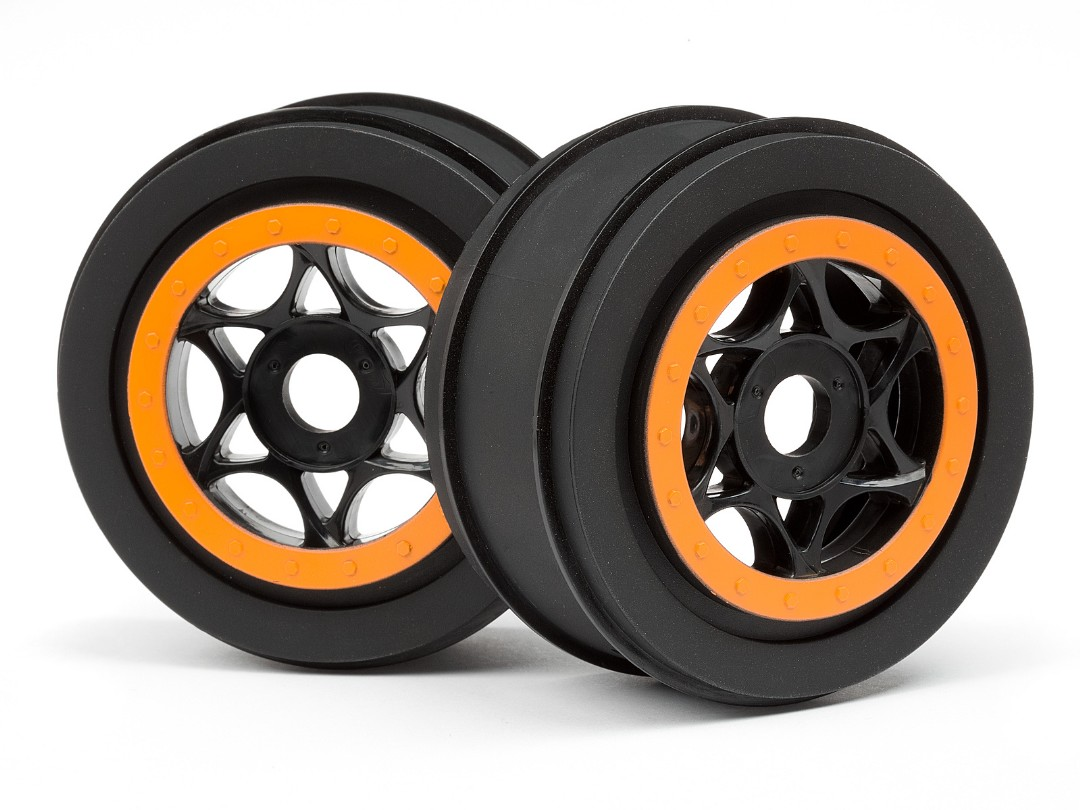 HPI Ah-64 Wheel Black/Orange (42X83Mm/2Pcs)