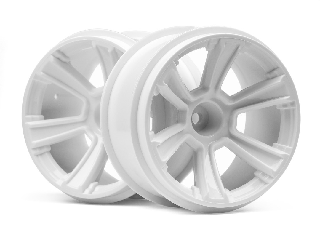 HPI 6-Shot Mt Wheel (White/2Pcs)