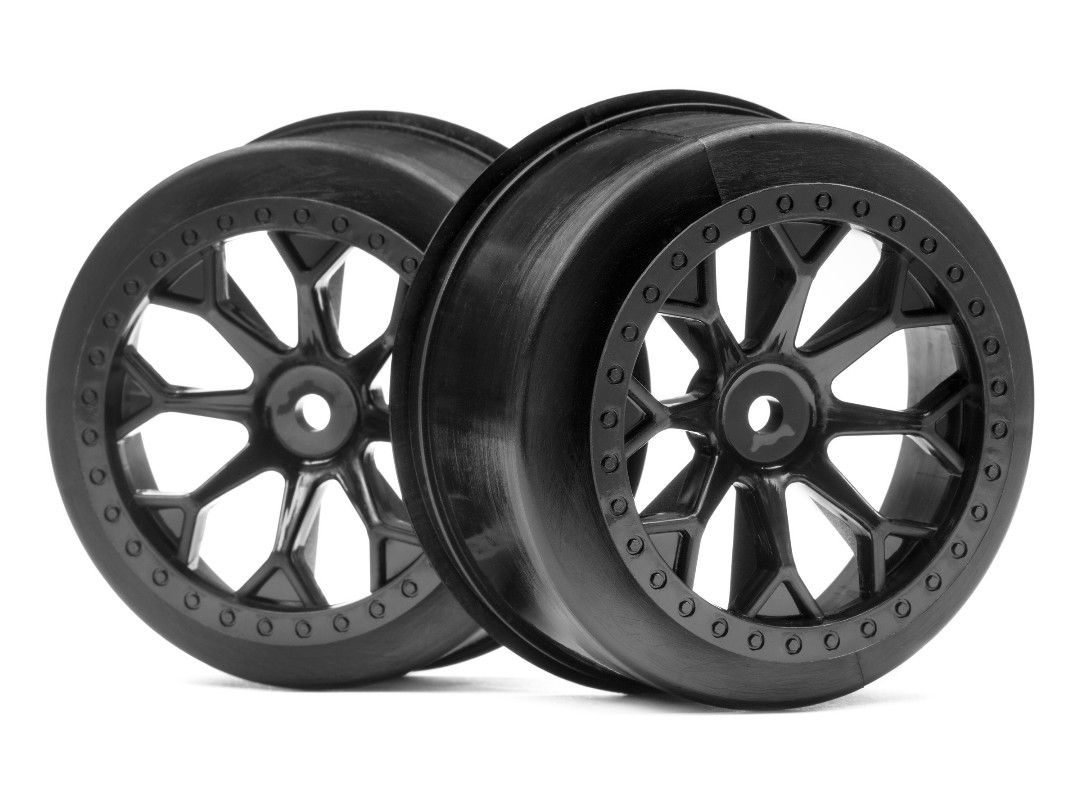 HPI 8-Shot Sc Wheel (Black/2Pcs)