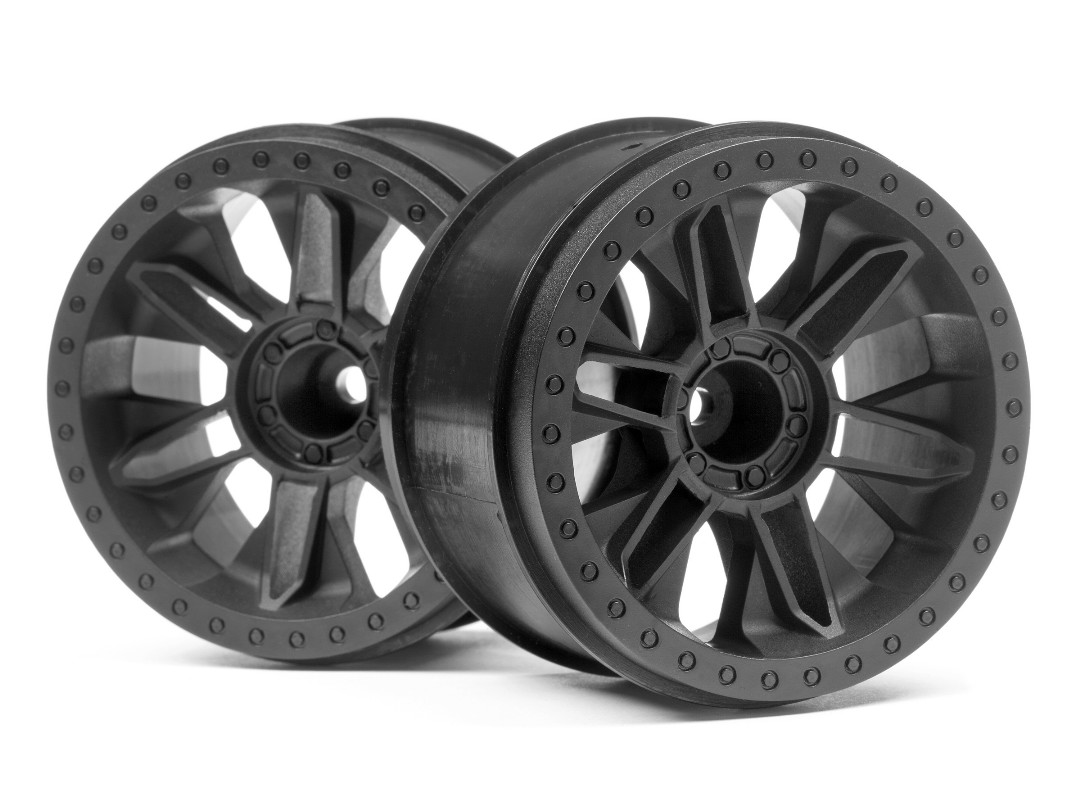 HPI 6-Shot St Wheel (Black/2Pcs)