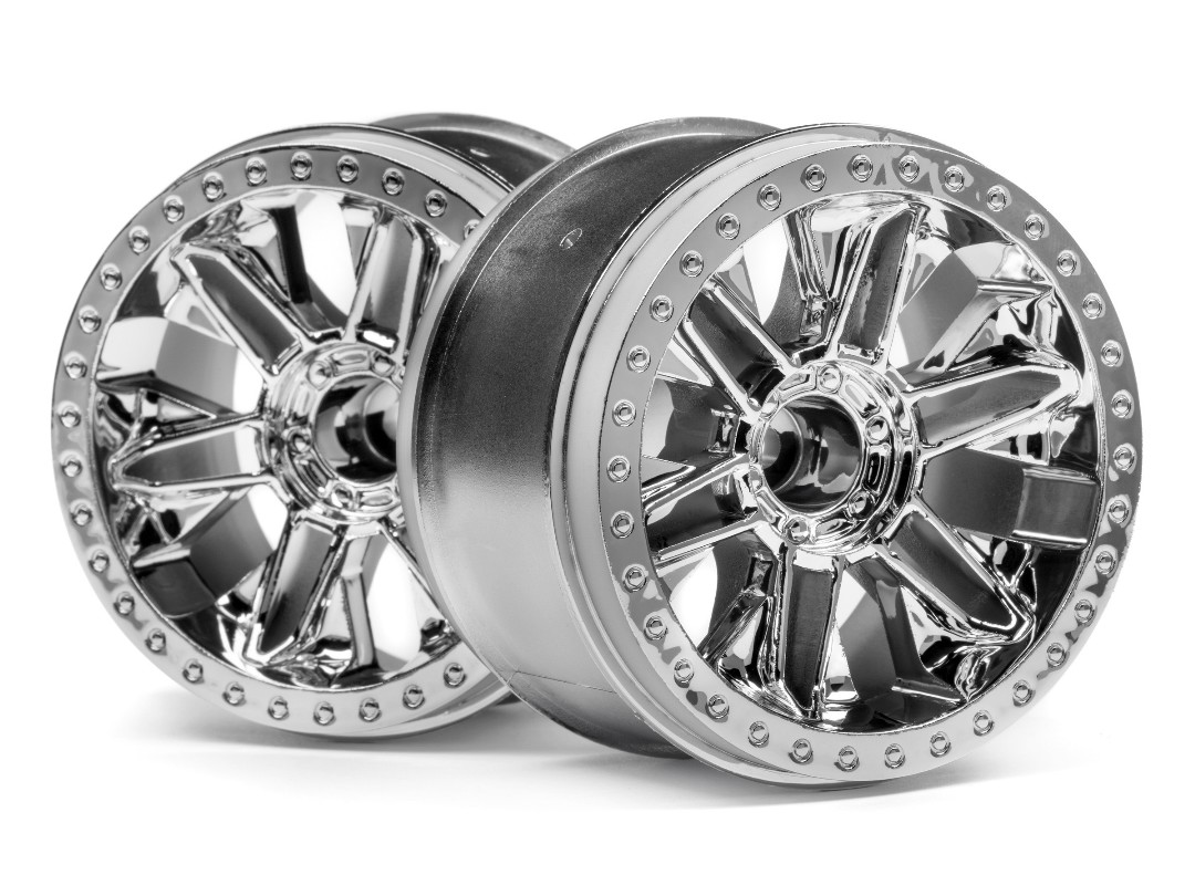 HPI 6-Shot St Wheel (Chrome/2Pcs)