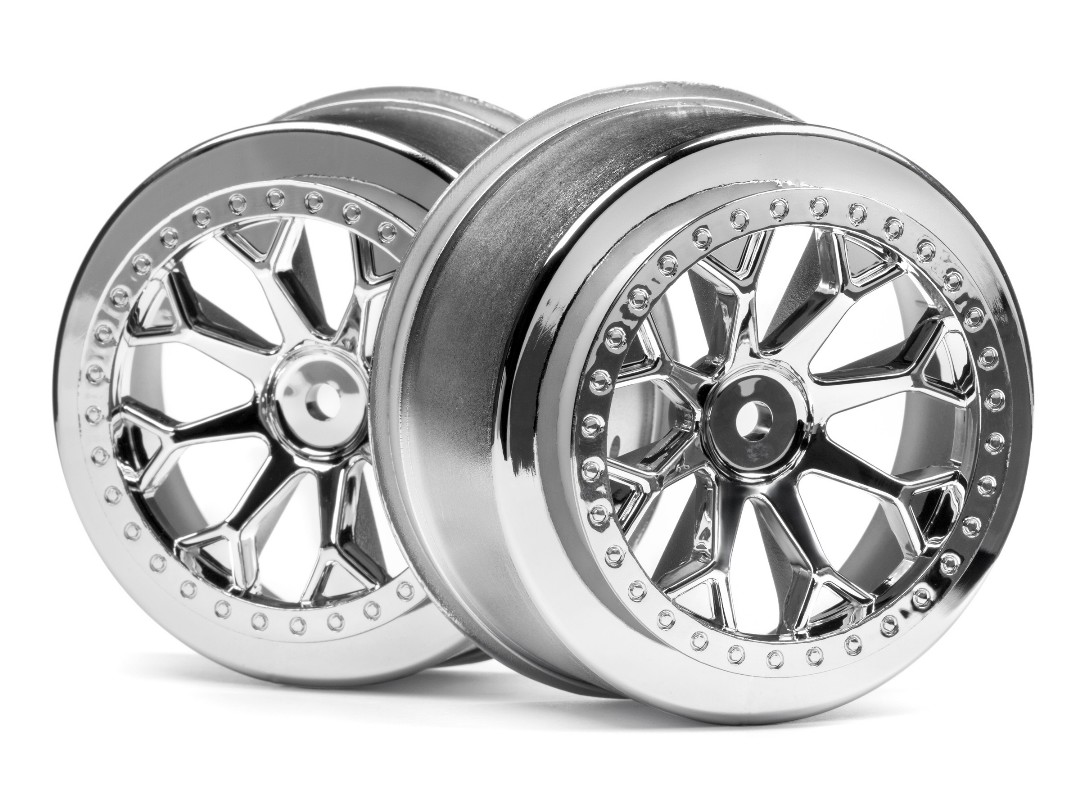 HPI 8-Shot Sc Wheel (Chrome/2Pcs)