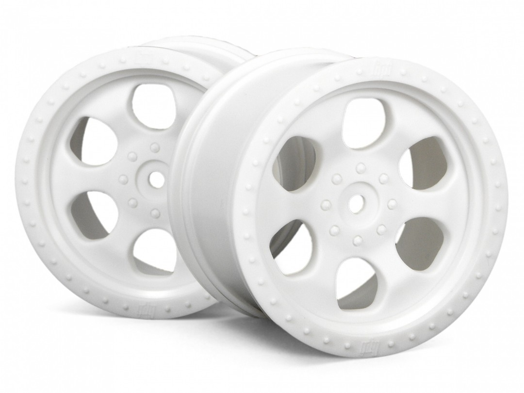 HPI 6 Spoke Wheel White(83X56Mm) 2Pcs/Savage/14Mm Hex Hub