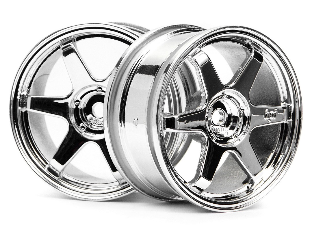 HPI Te37 Wheel 26Mm Chrome Omm Offset/Fit 26Mm Tyre