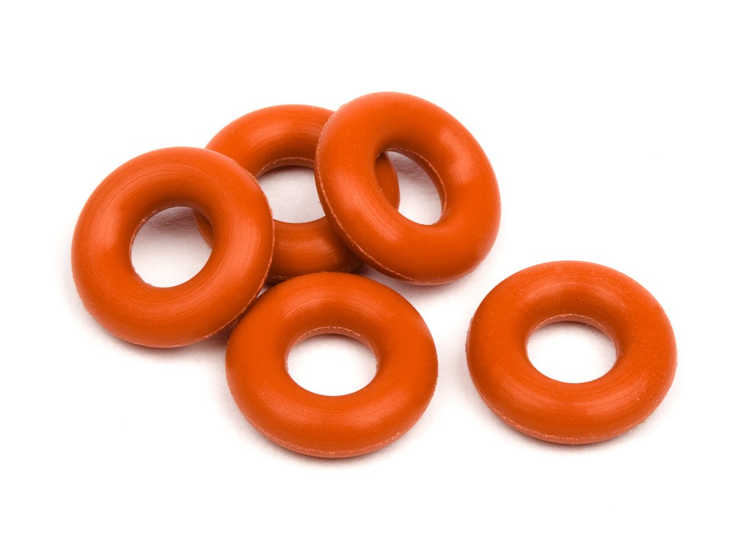HPI Silicon O-Ring P-3(Red)(5 Pcs)
