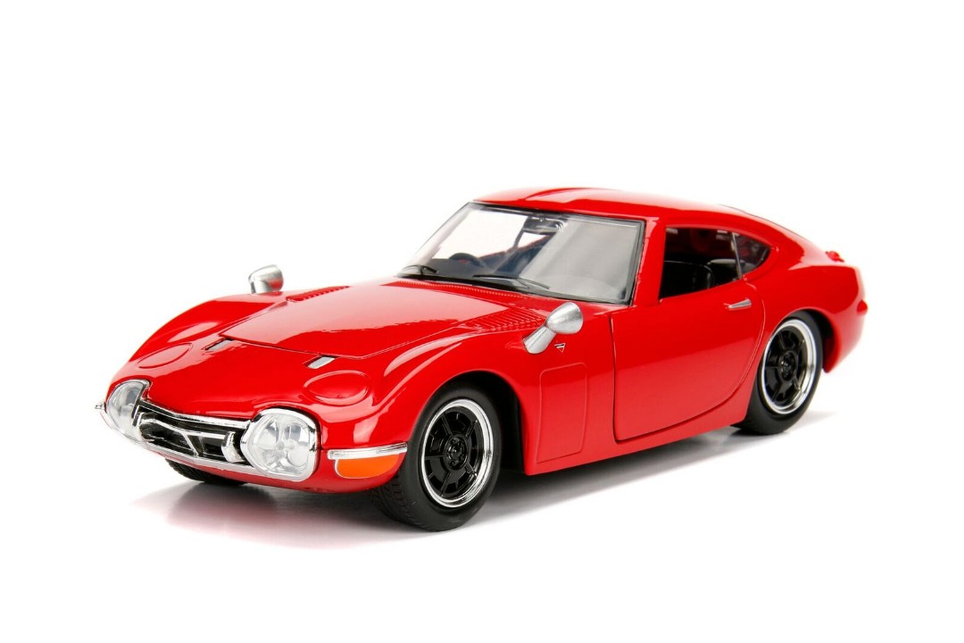 """JDM Tuners Metals Die Cast"" 1/24 Toyota 2000GT - Red"