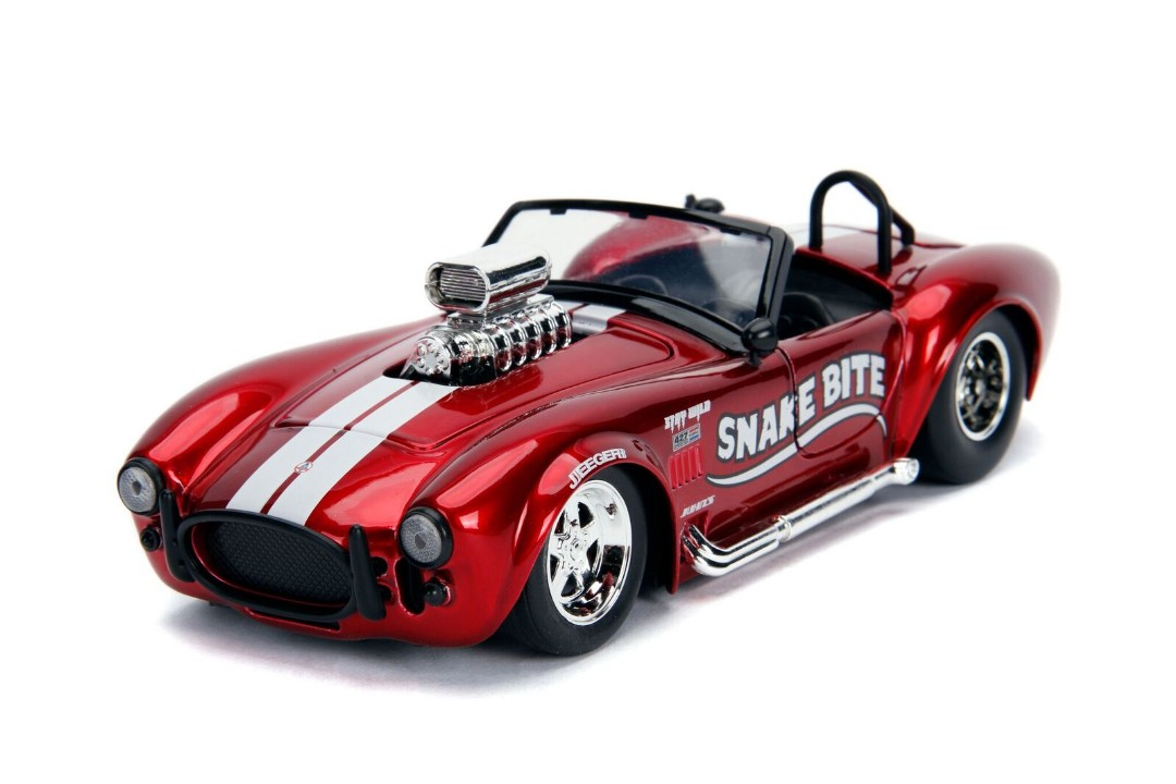 """BIGTIME Muscle"" 1/24 1965 Shelby Cobra 427 S/C – Candy Red"