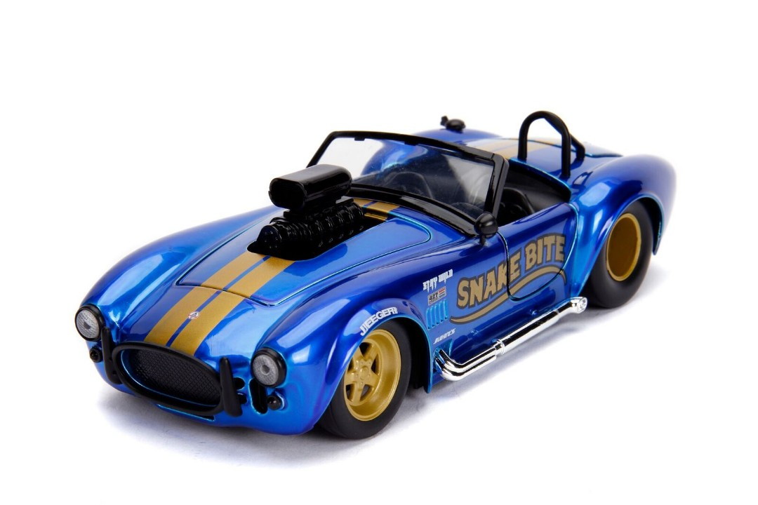"""BIGTIME Muscle"" 1/24 1965 Shelby Cobra 427 S/C – Candy Blue"