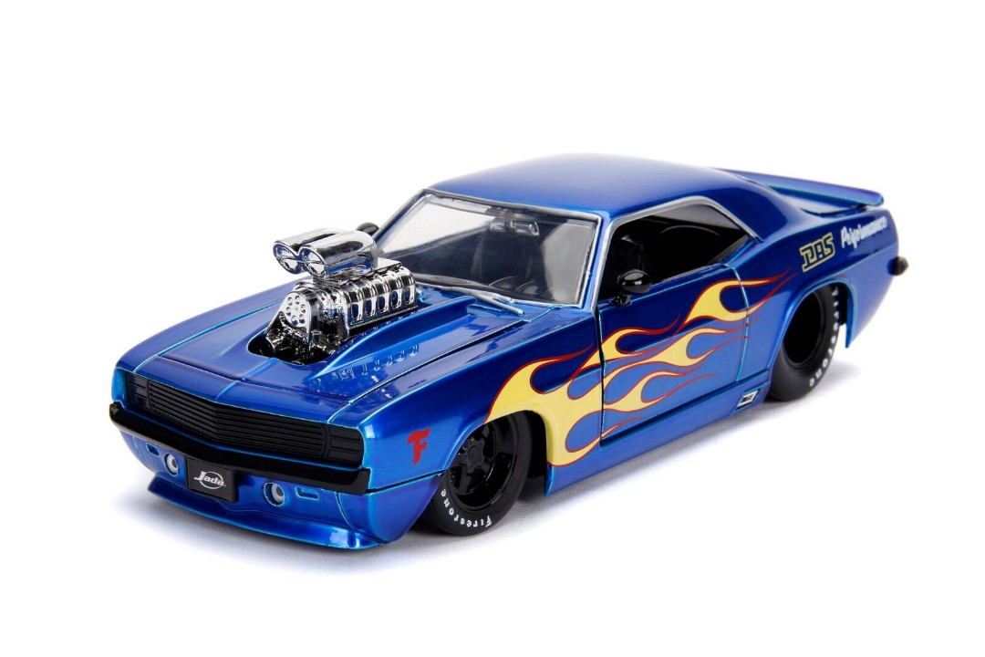 """BIGTIME Muscle"" 1/24 1969 Chevy Camaro – Candy Blue"
