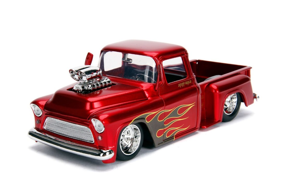 """Just Trucks"" 1/24 - 1955 Chevy Stepside - Candy Red"