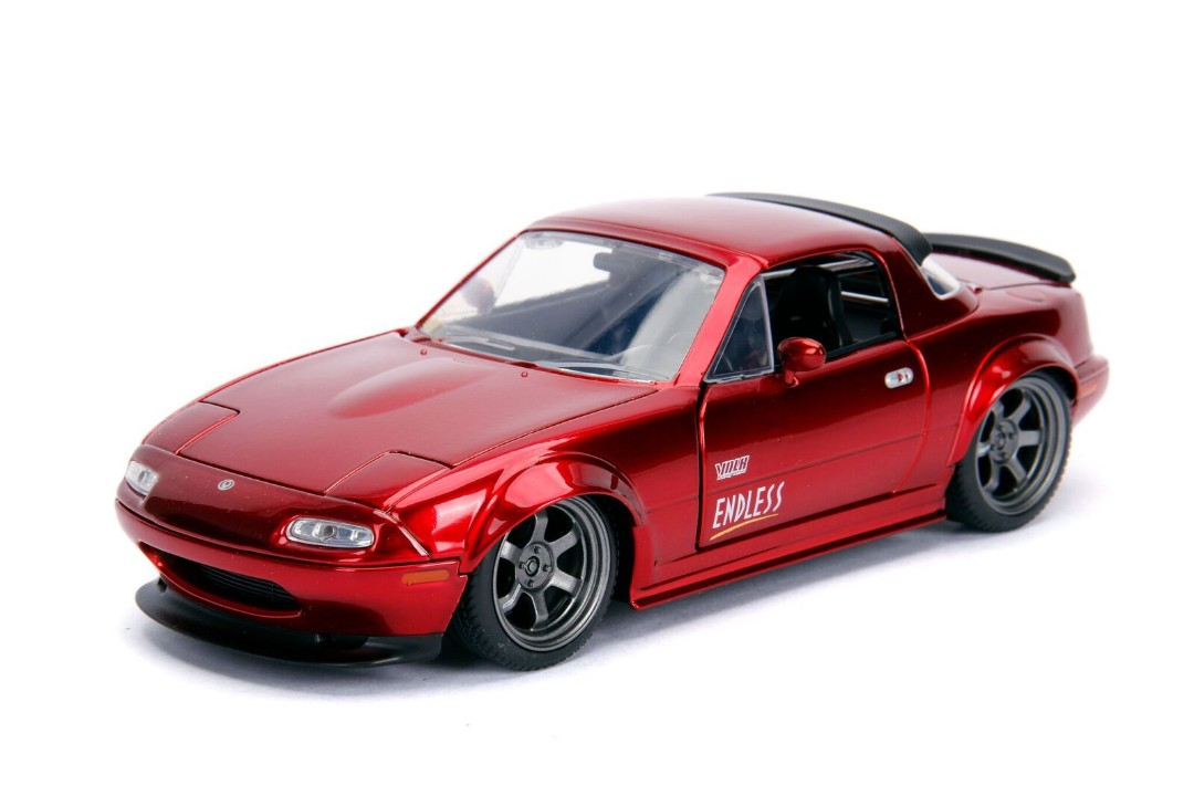 """JDM Tuners Metals Die Cast"" 1/24 1990 Mazda Miata - Candy Red"
