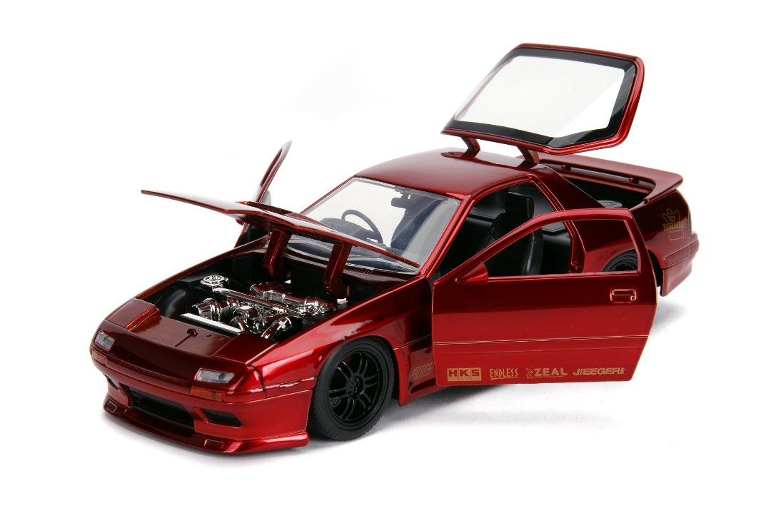"""JDM Tuners Metals Die Cast"" 1/24 1985 Mazda RX-7 RC - Candy Red"