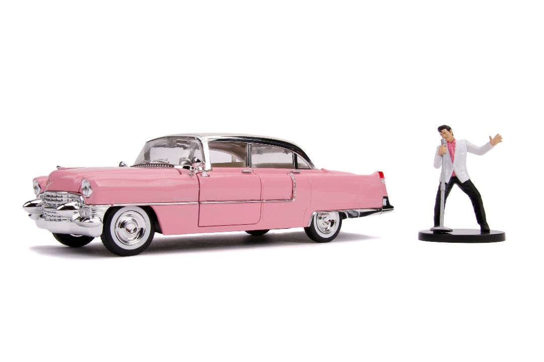 "Jada 1/24 ""Hollywood Rides"" 1955 Cadillac Fleetwood w/ Elvis"