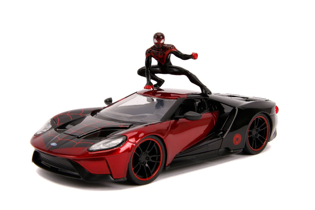 "Jada 1/24 ""Hollywood Rides"" 2017 Ford GT with Miles Morales"