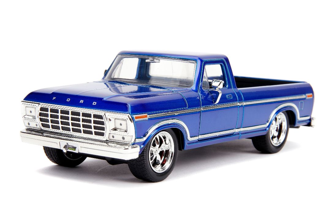 "Jada 1/24 ""Just Trucks"" 1979 Ford F-150 Pickup Custom Candy Blue"