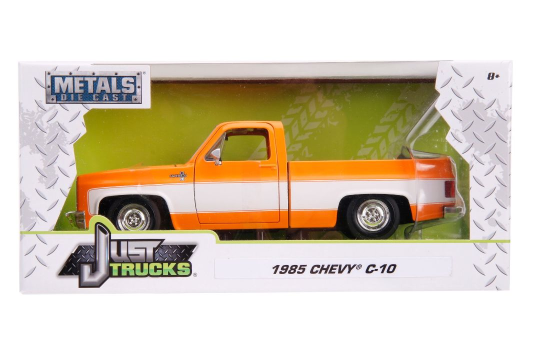 "Jada 1/24 ""Just Trucks"" 1985 Chevy C10 Pickup Stock - Orange"