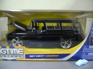"""BIGTIME Kustoms"" 1/24 1957 Chevy Suburban - Glossy Black"