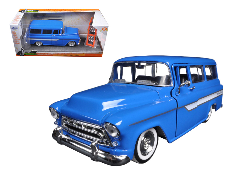 """BIGTIME Kustoms"" 1/24 1957 Chevy Suburban - Candy Blue"