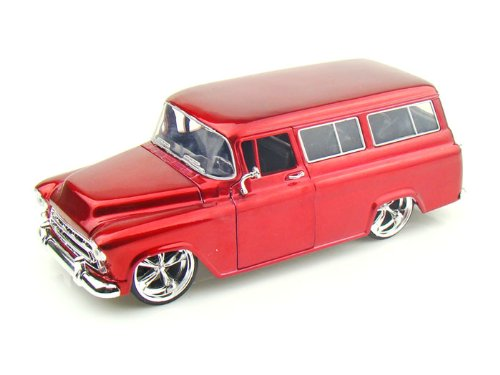 """BIGTIME Kustoms"" 1/24 1957 Chevy Suburban - Candy Red"