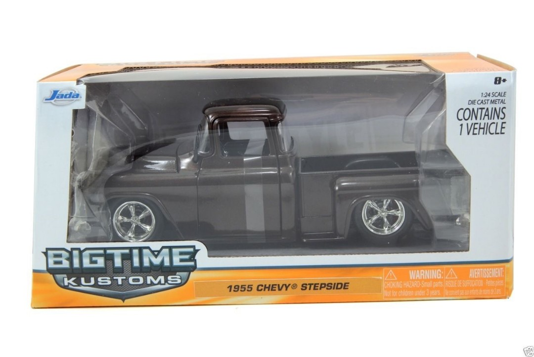 """BIGTIME Kustoms"" 1/24 1955 Chevy Stepside Pickup Metallic Brown"
