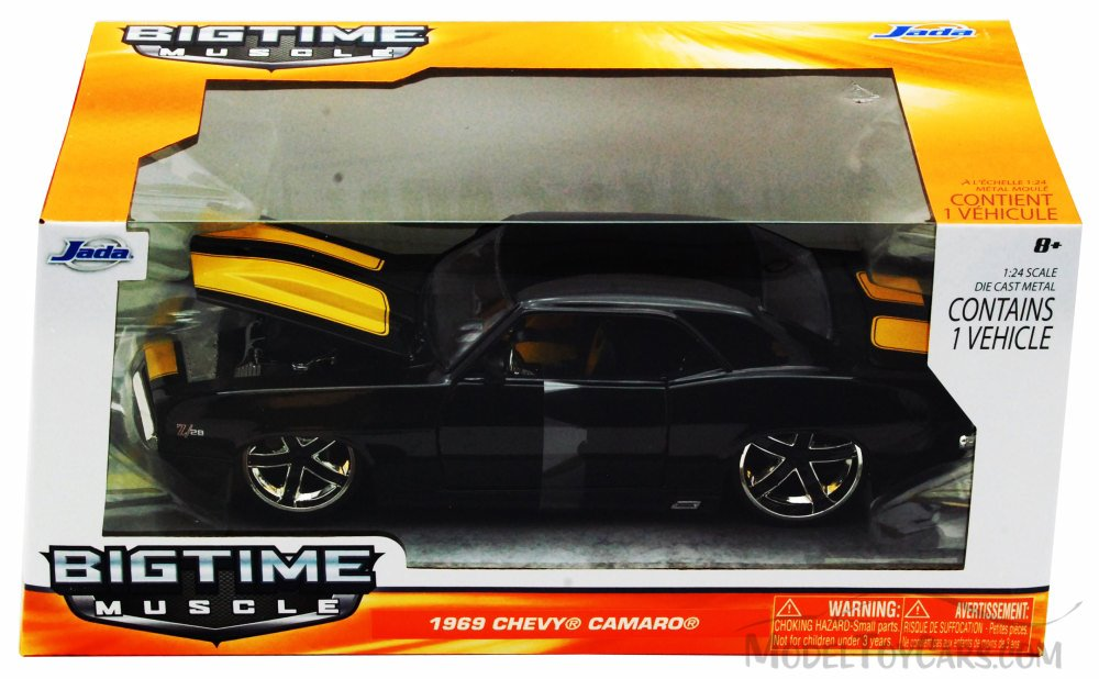 """BIGTIME Muscle"" 1/24 1969 Chevy Camaro - Black"