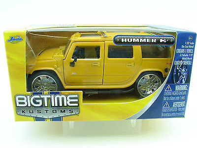 """BIGTIME Kustoms"" 1/24 2003 Hummer H2 - Metallic Yellow"