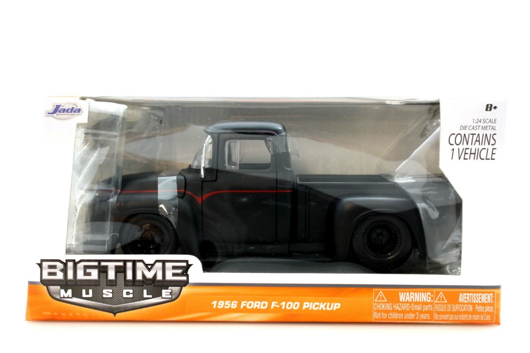 """BIGTIME Muscle"" 1/24 1956 Ford F100 Pickup - Primer Black"
