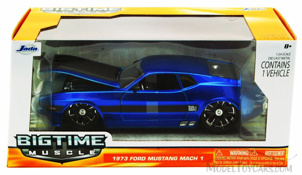 """BIGTIME Muscle"" 1/24 73 Ford Mustang Mach 1 - Blue"