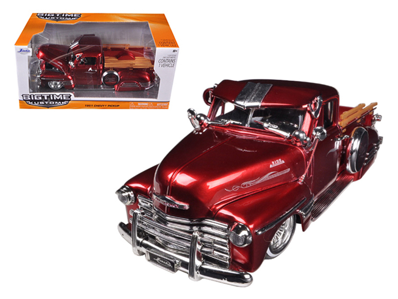 """BIGTIME Muscle"" 1/24 1951 Chevy Pickup - Red"