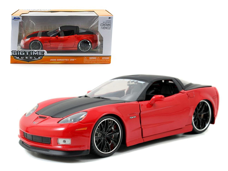 """BIGTIME Muscle"" 1/24 2006 Corvette Z06 - Glossy Red"