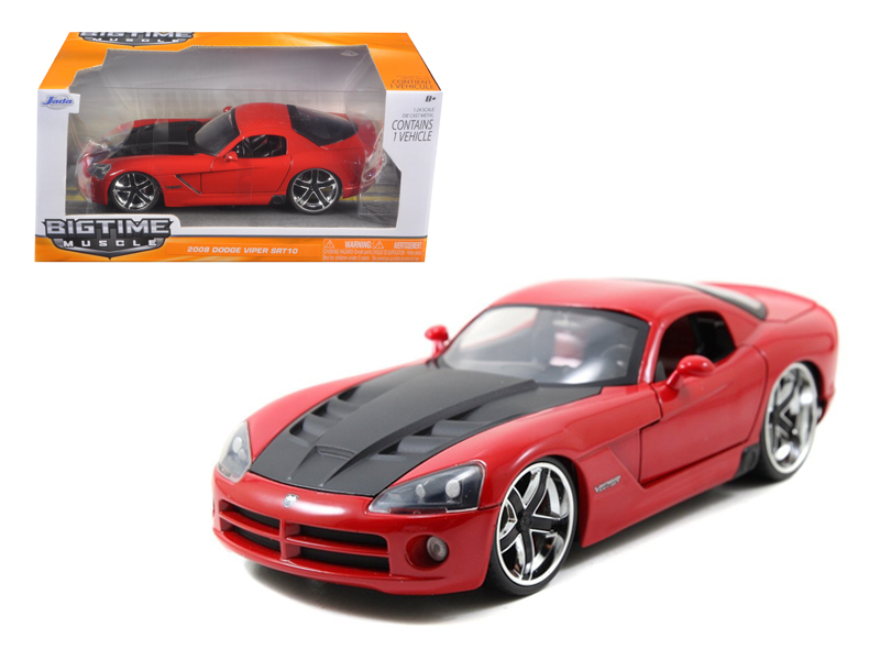 """BIGTIME Muscle"" 1/24 2008 Dodge Viper SRT 10 - Red"