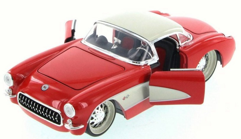 """BIGTIME Muscle"" 1/24 1957 Corvette Hard Top - Glossy Red"