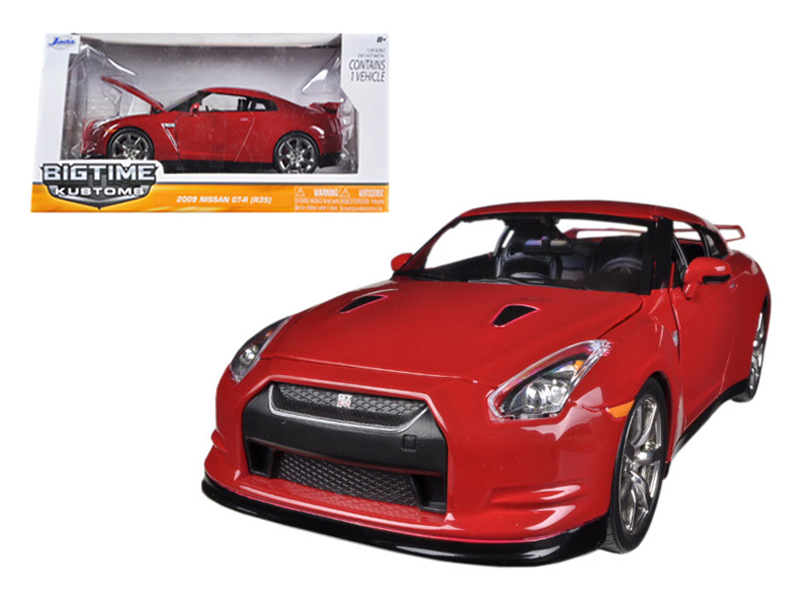 """BIGTIME Kustoms"" 1/24 2009 Nissan GT-R - Vibrant Red"