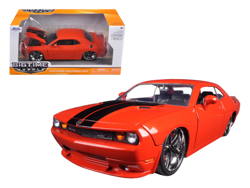 """BIGTIME Muscle"" 1/24 2008 Dodge Challenger SRT8 - Red"