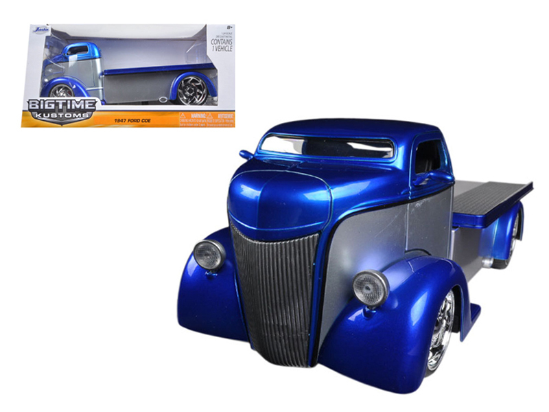 """BIGTIME Kustoms"" 1/24 1947 Ford COE - Blue"