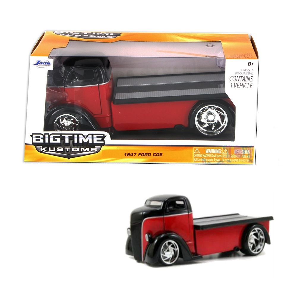 """BIGTIME Kustoms"" 1/24 1947 Ford COE - Red"