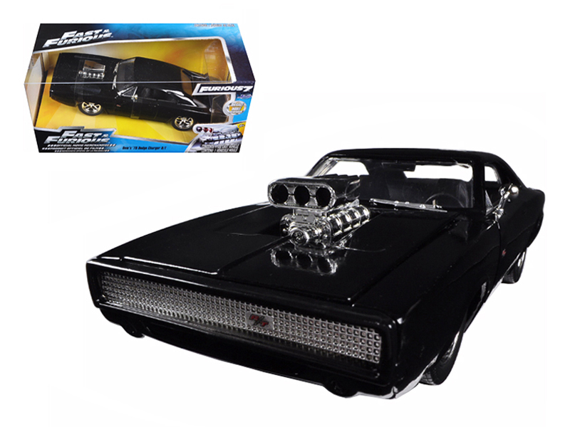 """Fast & Furious"" 1/24 1970 Dodge Charger R/T - Glossy Black"