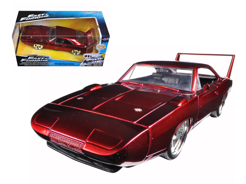 """Fast & Furious 7""1/24 69 Dodge Charger Daytona - Candy Burgundy"