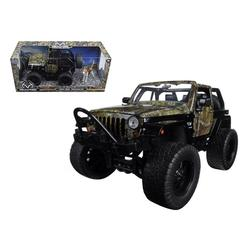 """Realtree""1/24 2007 Jeep Wrangler Off Road with Dog Glossy Black"