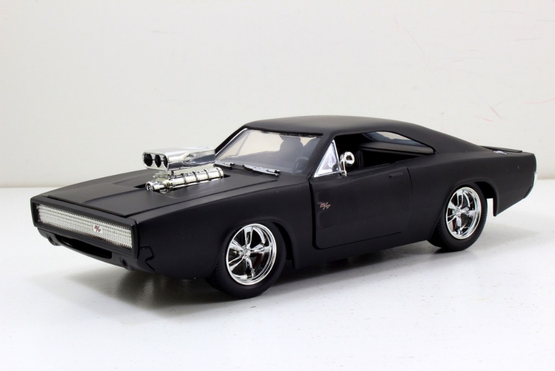 """Fast & Furious"" 1/24 70 Dodge Charger Matte Black Edition"