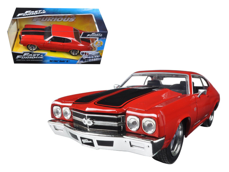 """Fast & Furious 7"" 1/24 Dom's Chevy Chevelle SS - Glossy Red"